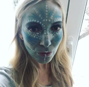 Outerspace Familie Alien Feiert Karneval Dussel Mom